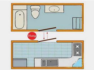 Hóa giải phong thủy nhà vệ sinh trên bếp cần lưu ý những gì?