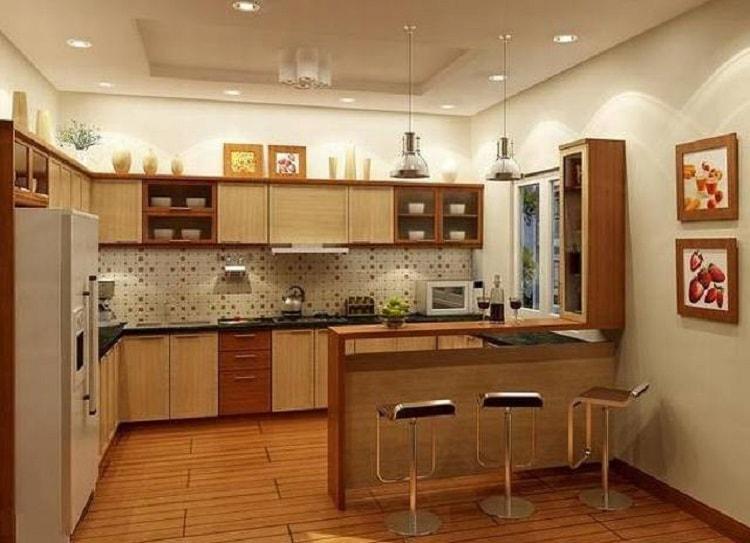 Màu sắc đồ nội thất trong phòng bếp