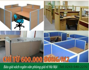 Báo giá vách ngăn văn phòng giá rẻ Hà Nội: Chỉ từ 600.000 đồng/m2
