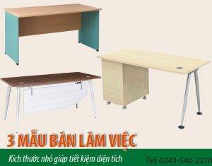 3 mẫu bàn làm việc kích thước nhỏ giúp tiết kiệm diện tích