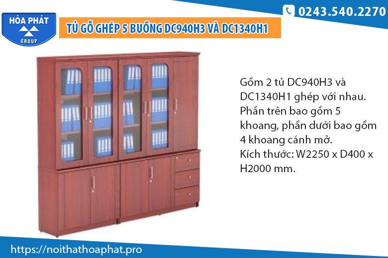 Tủ tài liệu nhiều ngăn Hòa PhátDC940H3 - DC1340H1