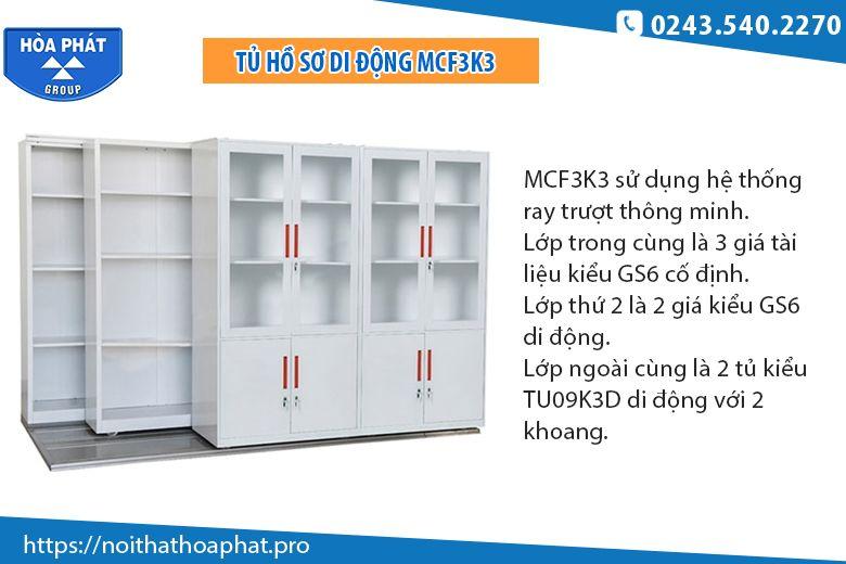 Tủ nhiều ngăn hòa phát MCF3K3
