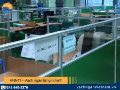 VNN11 - Vách ngăn lửng nỉ kính