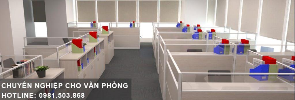 Chuyên nghiệp hóa công sở với vách ngăn văn phòng