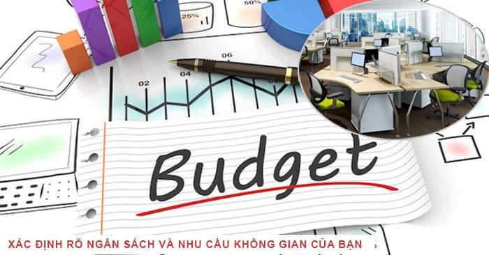 Xác định rõ ngân sách và nhu cầu không gian của bạn
