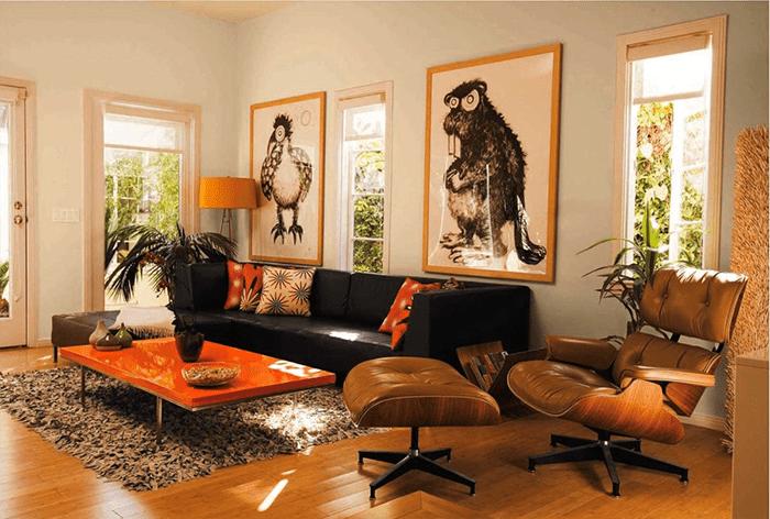 Một phòng khách phù hợp với người mệnh Hỏa