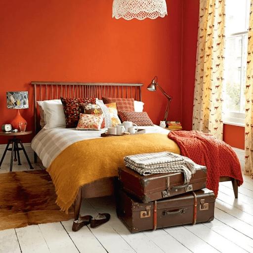 Phòng ngủ phù hợp với người mệnh Hỏa